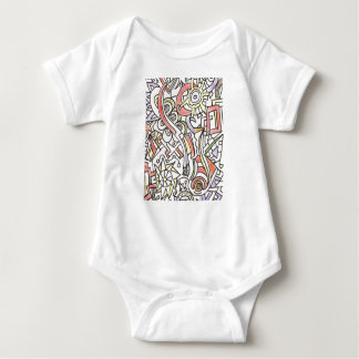 A Day At The Beach-Whimsical Abstract Art Baby Bodysuit
