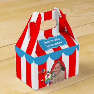 A Day at the Circus Kids Party Personalized Favor Box