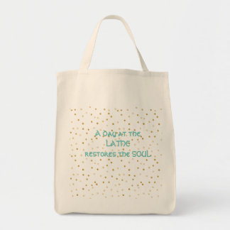 A Day at the Lathe Cloth Shopping Bag