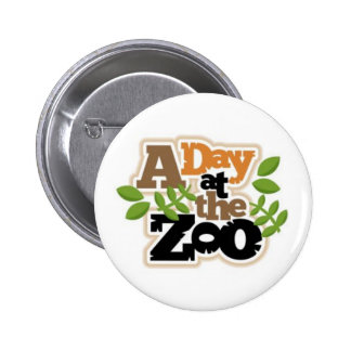 A day at the zoo 2 inch round button
