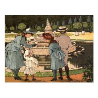 """ A Day at Versailles"" Postcard"