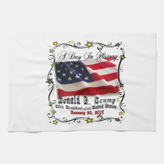 A Day In History Trump Pence Inauguration Kitchen Towel
