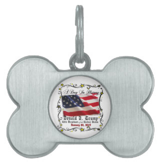 A Day In History Trump Pence Inauguration Pet Name Tag