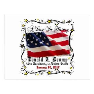 A Day In History Trump Pence Inauguration Postcard