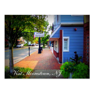 A Day in Moorestown, NJ Postcard