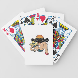 A Day in Paradise Bicycle Playing Cards