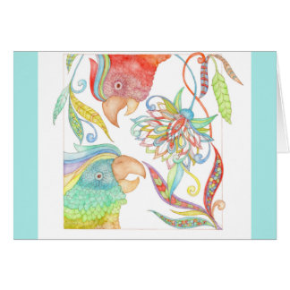 """A Day In Paradise """"get well"""" card in light blue"""