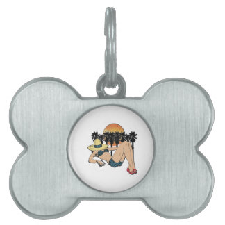 A Day in Paradise Pet Tag