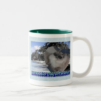 A Day in Paradise Two-Tone Coffee Mug