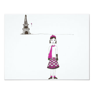 A day in Paris France Card