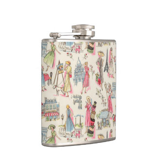A Day in Paris Hip Flask