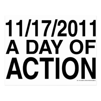 A Day of Action Postcard