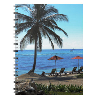 A day under the palm tree spiral note book
