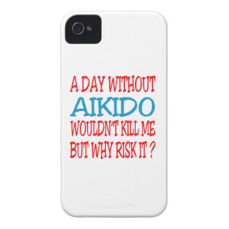 A Day Without Aikido. iPhone 4 Case-Mate Cases
