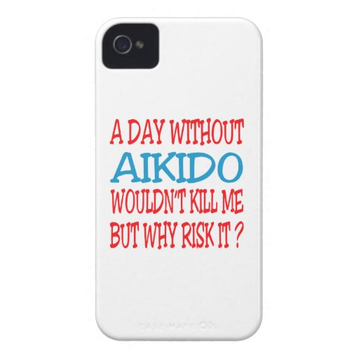 A Day Without Aikido. Case-Mate iPhone 4 Cases