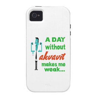 A day without Akvavit make me weak.. Vibe iPhone 4 Case