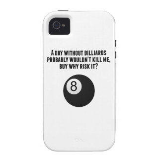 A Day Without Billiards iPhone 4 Case