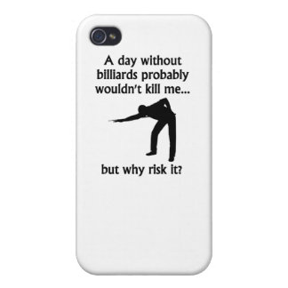 A Day Without Billiards iPhone 4 Covers