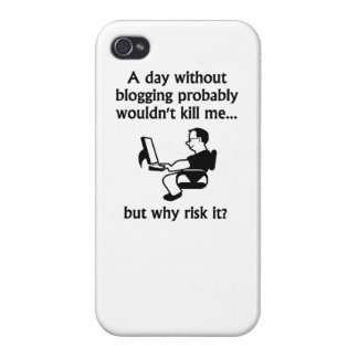 A Day Without Blogging iPhone 4/4S Case