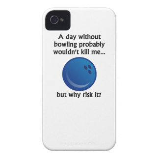 A Day Without Bowling iPhone 4 Case-Mate Case