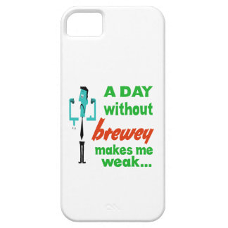 A day without Brewey make me weak.. iPhone 5 Cases
