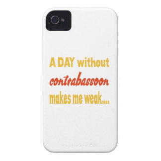 A day without contrabassoon makes me weak iPhone 4 cover