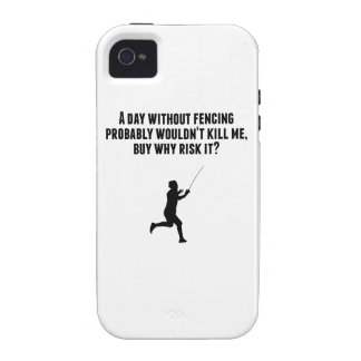 A Day Without Fencing iPhone 4/4S Cases