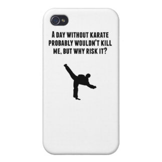 A Day Without Karate iPhone 4 Cover