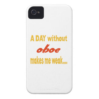 A day without oboe makes me weak iPhone 4 covers