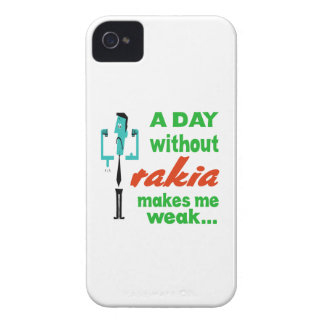 A day without Rakia make me weak.. Case-Mate iPhone 4 Case