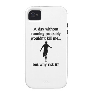 A Day Without Running iPhone 4 Case