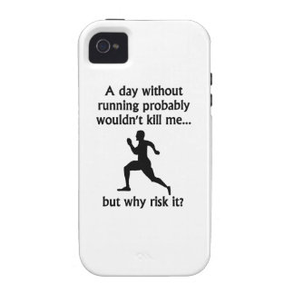 A Day Without Running Vibe iPhone 4 Cases