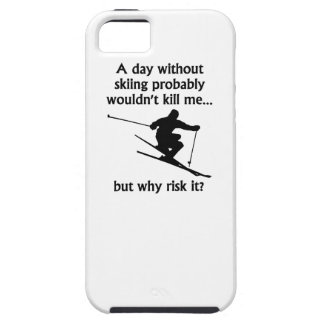 A Day Without Skiing iPhone 5 Case