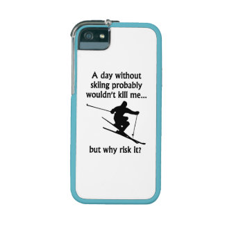 A Day Without Skiing iPhone 5/5S Case