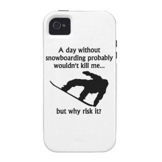 A Day Without Snowboarding iPhone 4/4S Case