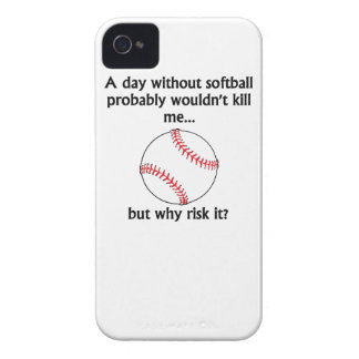 A Day Without Softball Case-Mate iPhone 4 Case