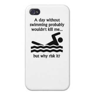A Day Without Swimming iPhone 4 Covers