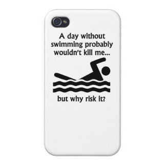 A Day Without Swimming Case For iPhone 4