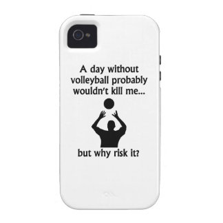 A Day Without Volleyball Case-Mate iPhone 4 Case