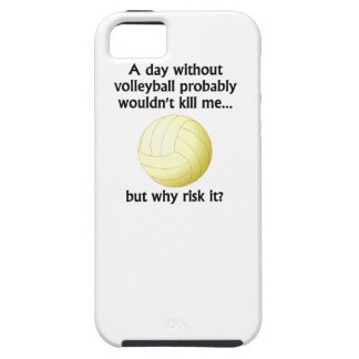 A Day Without Volleyball iPhone 5 Cases