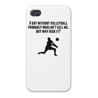 A Day Without Volleyball Case For iPhone 4