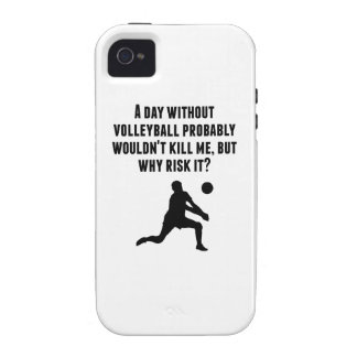 A Day Without Volleyball Case-Mate iPhone 4 Cases