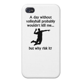 A Day Without Volleyball iPhone 4 Cover
