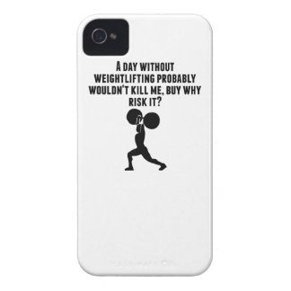 A Day Without Weightlifting iPhone 4 Case-Mate Cases