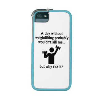 A Day Without Weightlifting iPhone 5 Cover