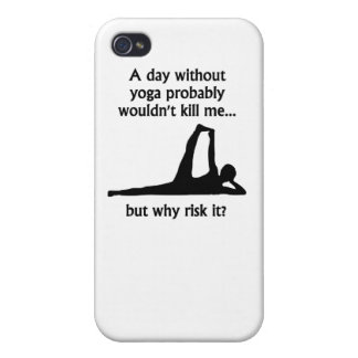 A Day Without Yoga iPhone 4 Cases