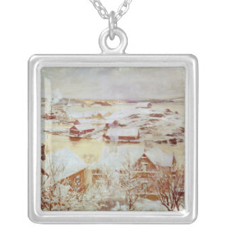 A December Day  c.1893 Silver Plated Necklace