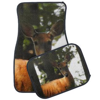 A Deer in the Wood Car Mat