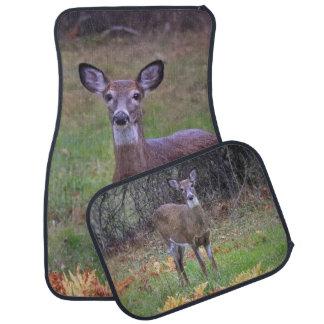 A Deer Meeting Car Mat
