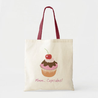 A Delicious Iced Cupcake with Cherry and Cream Tote Bag